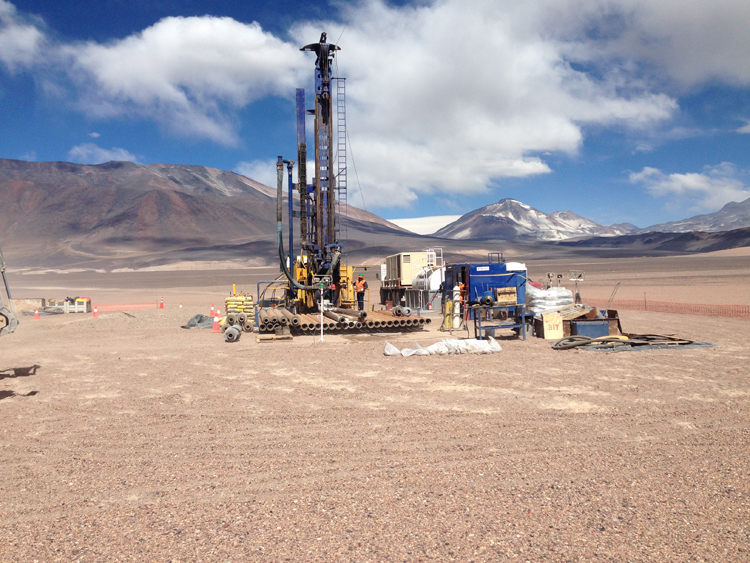 Drilling at the summit